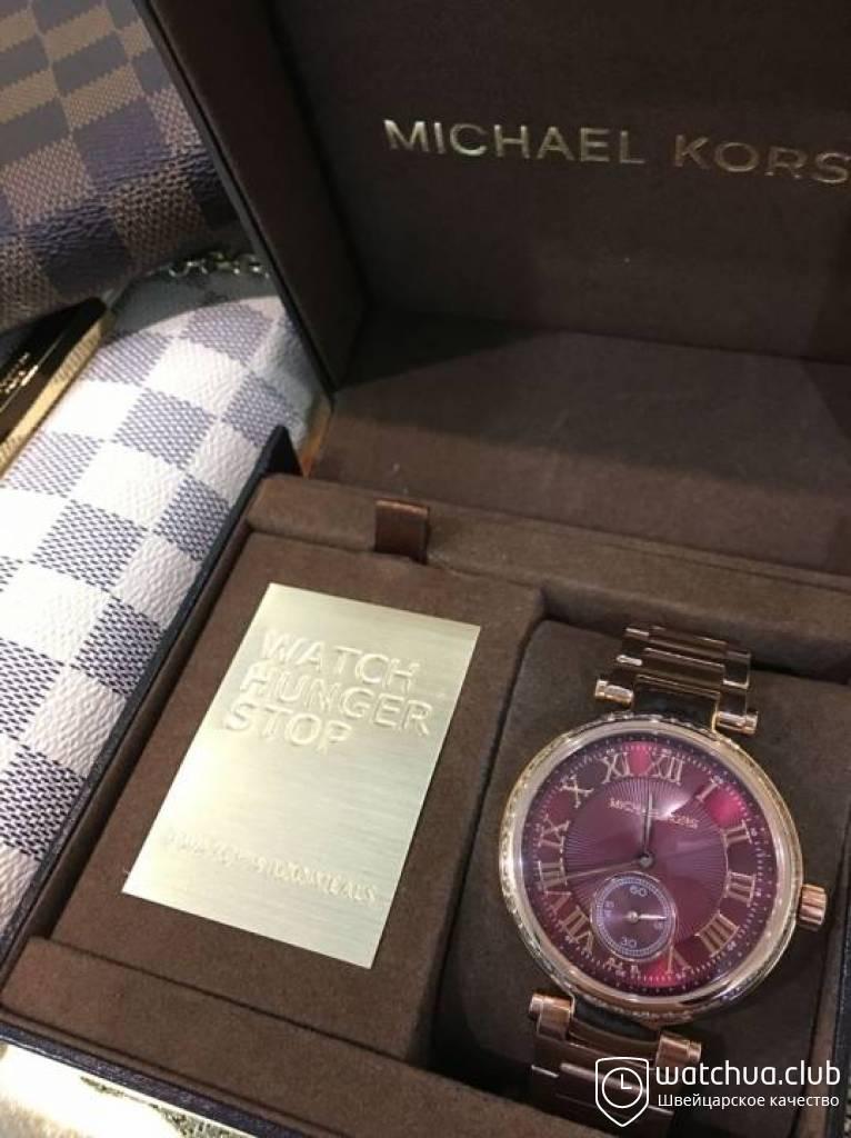 af930d435e94 Michael Kors Skylar MK6086 Red Dial Rose Gold Steel Ladies Watch вид 1