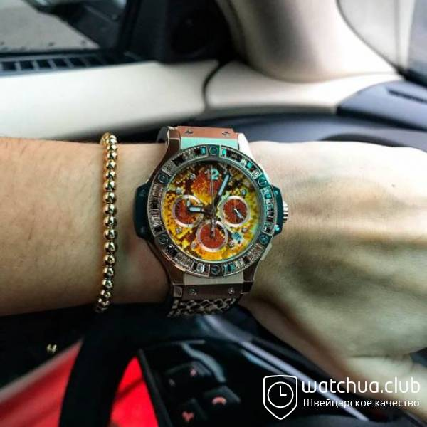 Hublot Boa Bang brown вид 1