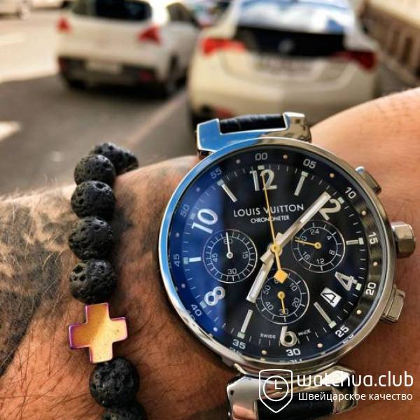 Louis Vuitton Tambour Chronograph Steel Black вид 1