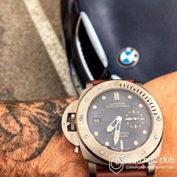 Panerai PAM00569 Luminor Submersible 1950 Left-Handed 3 Days Automatic Titanio вид 1