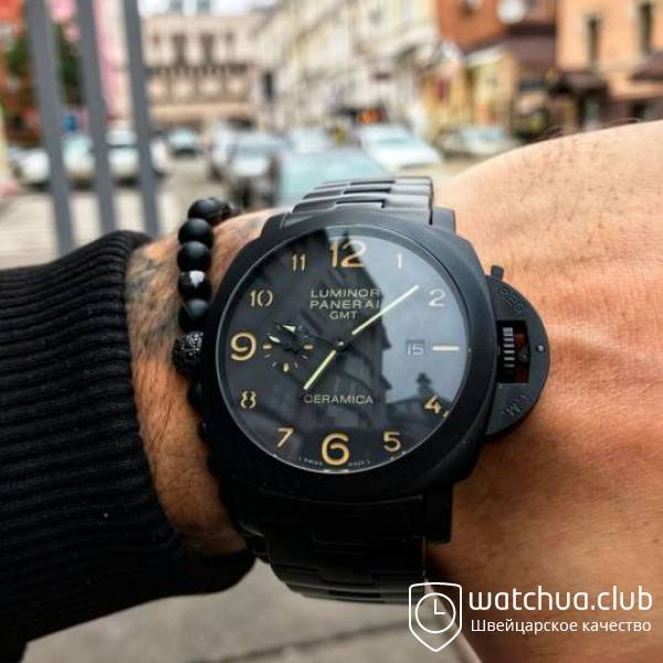 Panerai Ceramica GMT All Black Bracelet вид 1