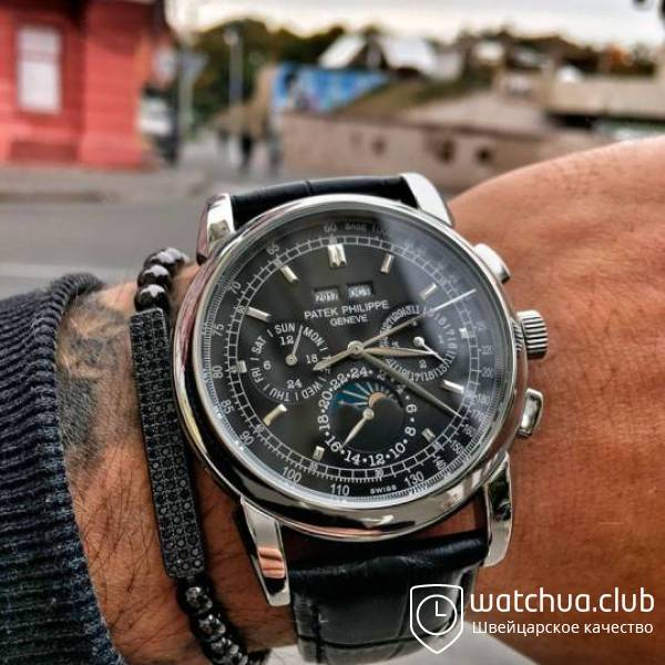 Patek Philippe Grand Complications Silver Black Classic Markers вид 1