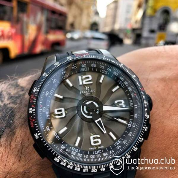 Perrelet Turbine Pilot All Black вид 1