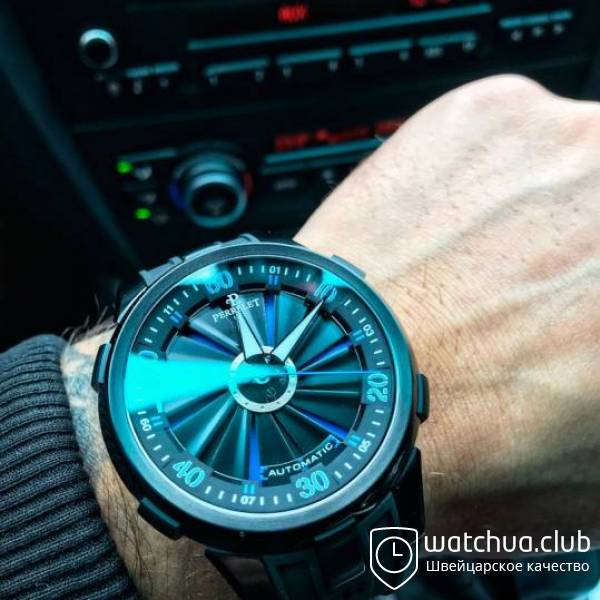 Perrelet Turbine Pilot All Black Blue Turbine вид 1