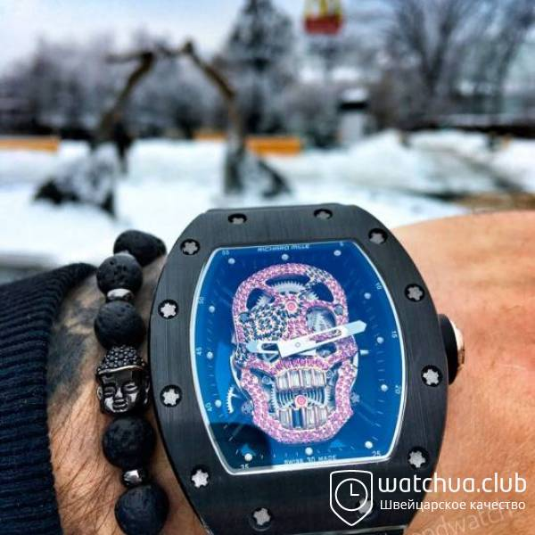 Richard Mille RM052 Red Diamond Pirate Skull Tourbillon вид 1