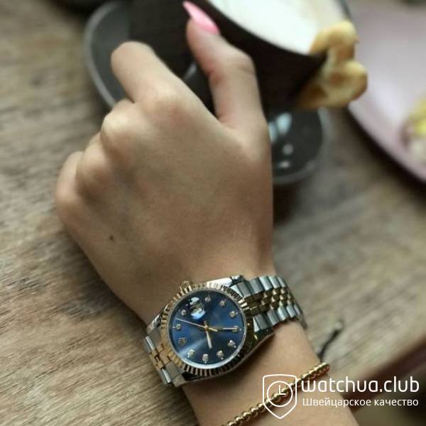 Rolex Datejust 36 deep blue dial two-tone bracelet вид 1