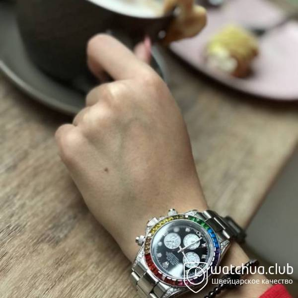 Rolex Oyster Perpetual Cosmograph Daytona Rainbow Silver Bracelet вид 1