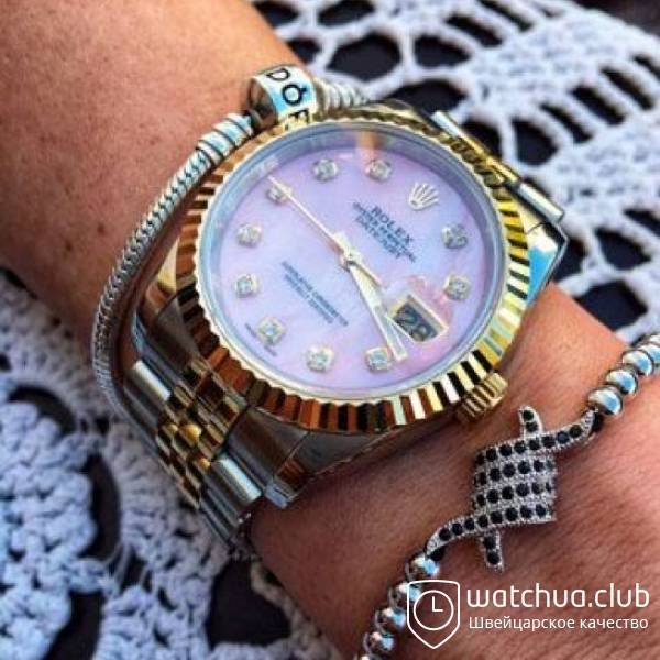 Rolex DateJust 36 Two-tone bracelet Pink Pearl Dial вид 1