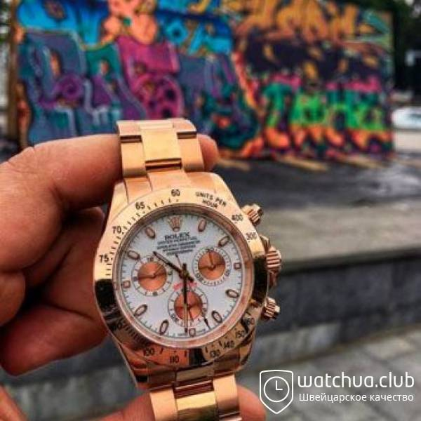 Rolex Cosmograph Daytona 116505 White Dial Everose Golden Case вид 1