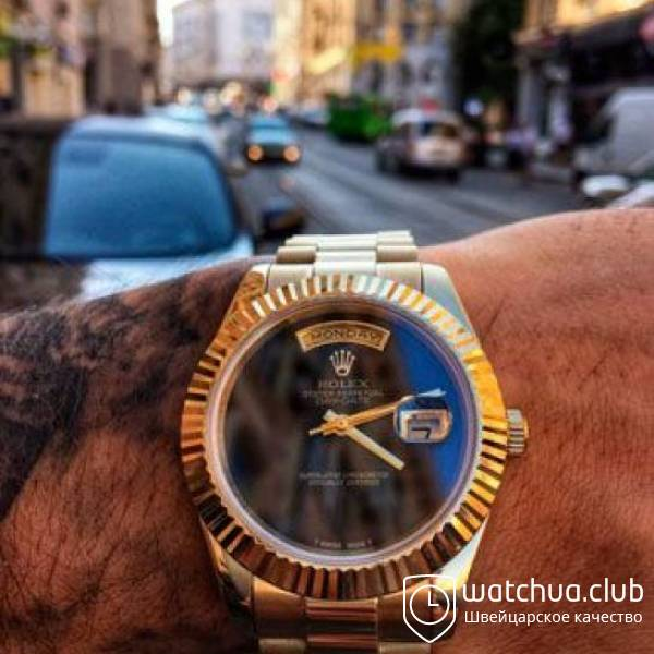 Rolex Day-date  Gold Black Onyx Dial 18038 вид 1