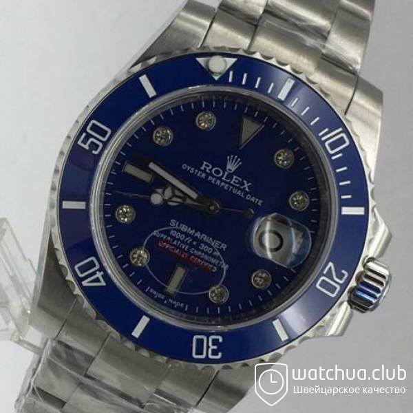 Rolex Submariner Steel Blue Ceramic Bezel Diamond Markers вид 2