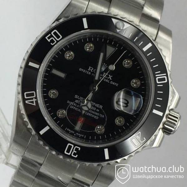 Rolex Submariner Steel Black Ceramic Bezel Diamond Markers вид 2