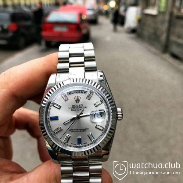 Rolex Day-Date 118239 All White Gold President bracelet вид 1