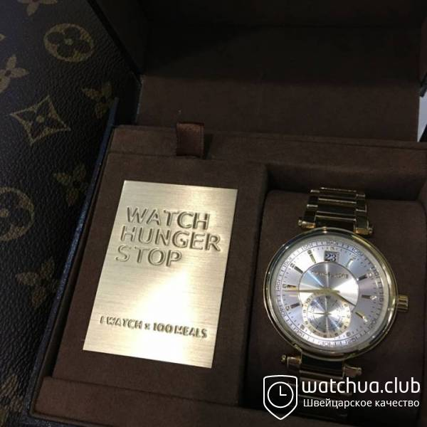 Michael Kors Sawyer Yellow gold plated white dial MK6226 вид 1