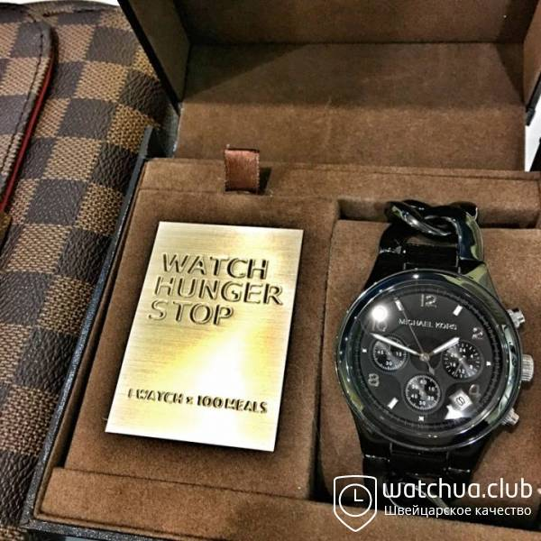Michael Kors Runway twist all black ceramic вид 1