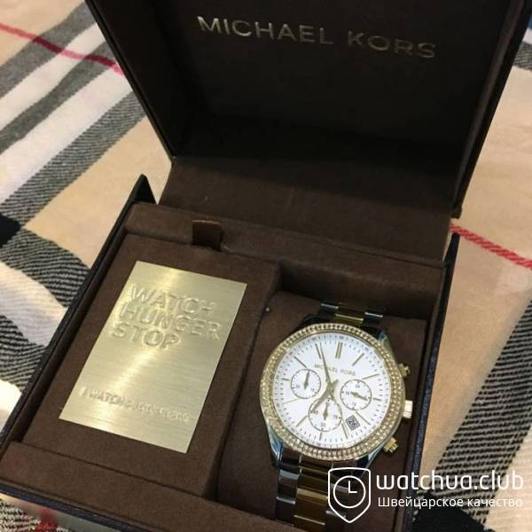 Michael Kors Slim Runway MK6252 Two-Tone Chrono вид 1
