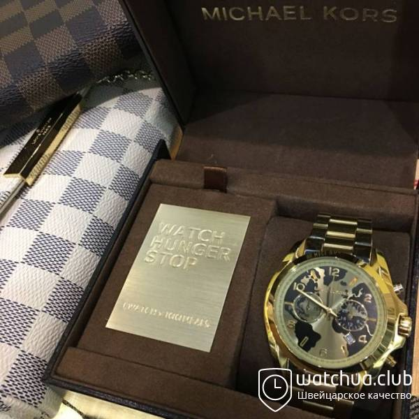 Michael Kors Watch Hunger Stop MK6272 Bradshaw 100 All Gold-Tone вид 1
