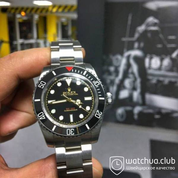 Rolex Submariner Red Mark Steel Black Cerachrome bezel вид 1