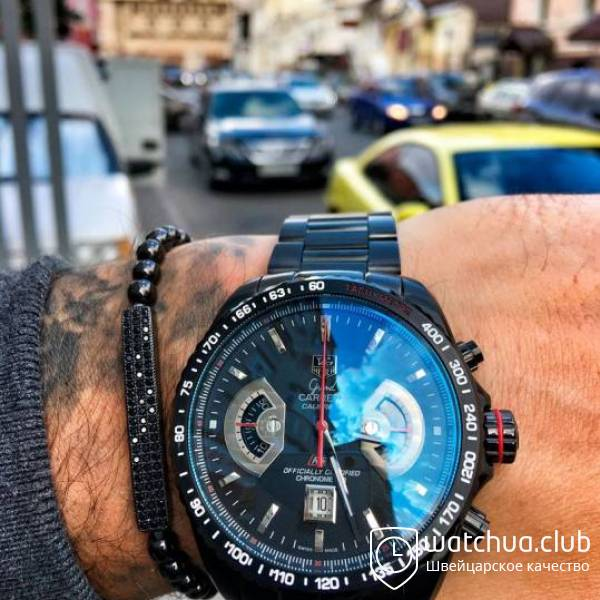 TAG Heuer Calibre 17 all black bracelet вид 1
