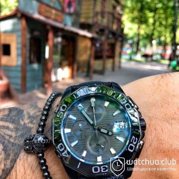 TAG Heuer Aquaracer Chrono Calibre 5 All Black вид 1