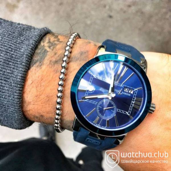 Ulysse Nardin Dual Time Blue Steel вид 1