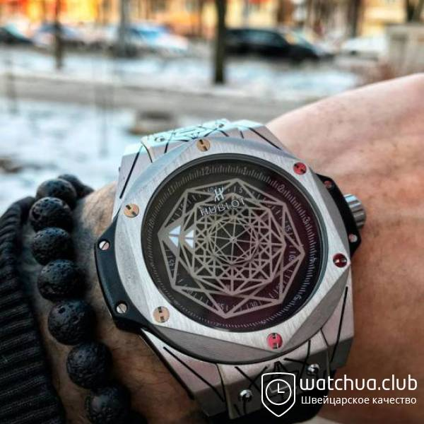 Hublot Big Bang Sang Bleu Quartz Steel Black вид 1