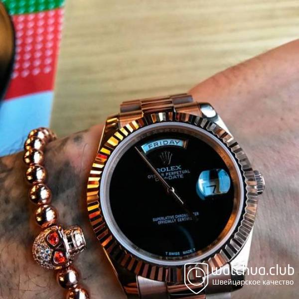 Rolex Day-date Gold Black Onyx Dial вид 1