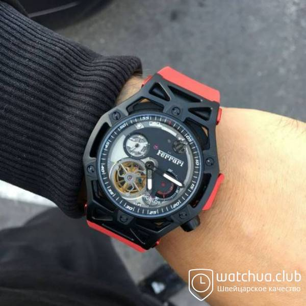 Hublot Techframe Ferrari Black Case Red Rubber вид 1