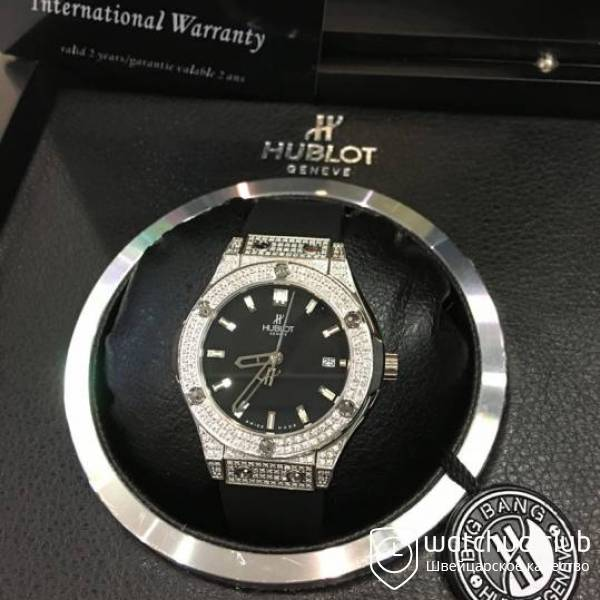 Hublot Big Bang 36mm Black Dial Steel Diamond Case вид 2