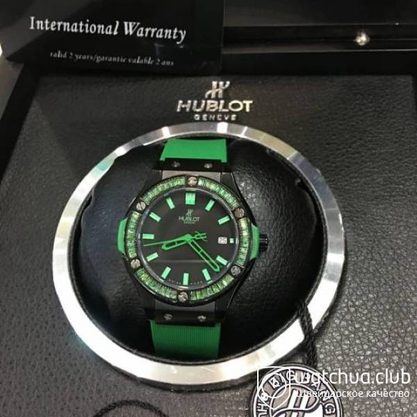 Hublot Lady Jewelry Green Big Bang Ceramic вид 1
