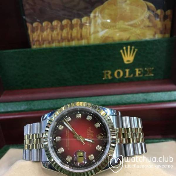 Rolex DateJust Red Dial Two-tone bracelet вид 2