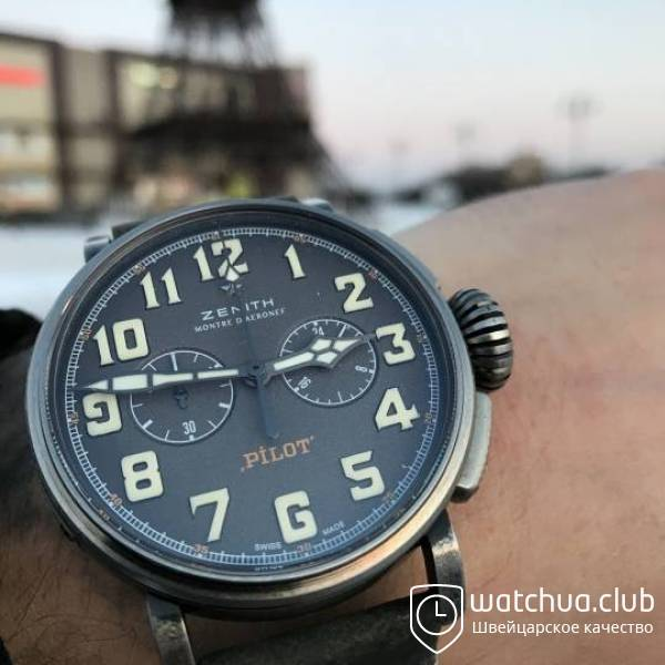 Zenith Pilot The Café Racer Steel Grey вид 1