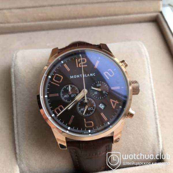 Montblanc Timewalker Golden Brown Leather Band chrono вид 1