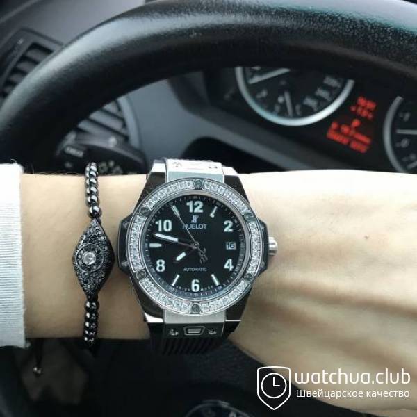 Hublot Big Bang One-Click Steel Black Diamond Bezel вид 1