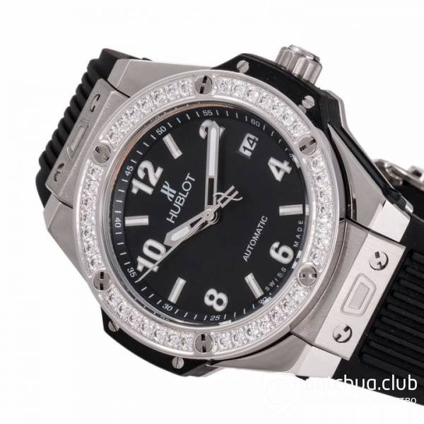 Hublot Big Bang One-Click Steel Black Diamond Bezel вид 2