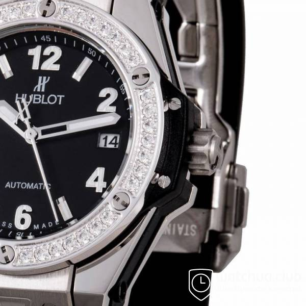 Hublot Big Bang One-Click Steel Black Diamond Bezel вид 4