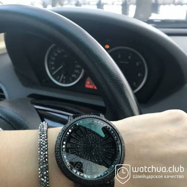 Chopard s5268 All Black Suede Strap вид 1