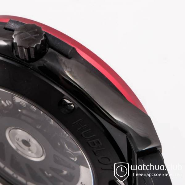 Hublot Classic Fusion 45mm BLACK DLC Case Red Bezel TF Best Edition S вид 3