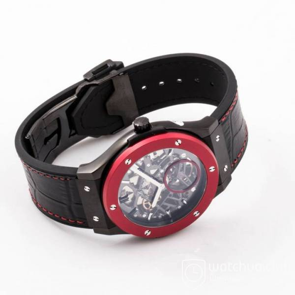 Hublot Classic Fusion 45mm BLACK DLC Case Red Bezel TF Best Edition S вид 4