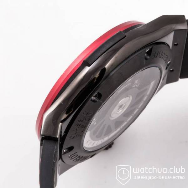 Hublot Classic Fusion 45mm BLACK DLC Case Red Bezel TF Best Edition S вид 6