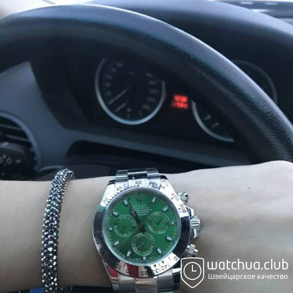 Часы Cosmograph Daytona 40mm White Gold Green вид 1