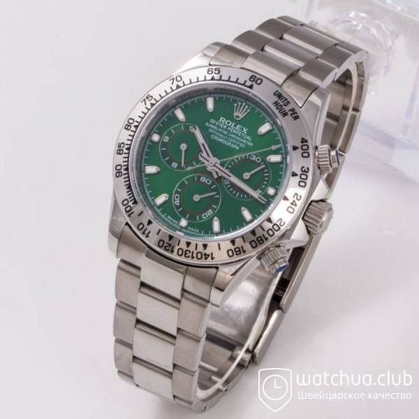 Часы Cosmograph Daytona 40mm White Gold Green вид 9