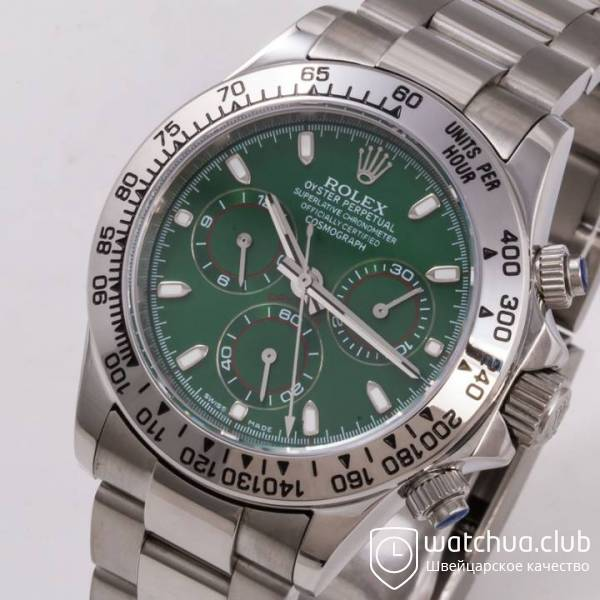Часы Cosmograph Daytona 40mm White Gold Green вид 10