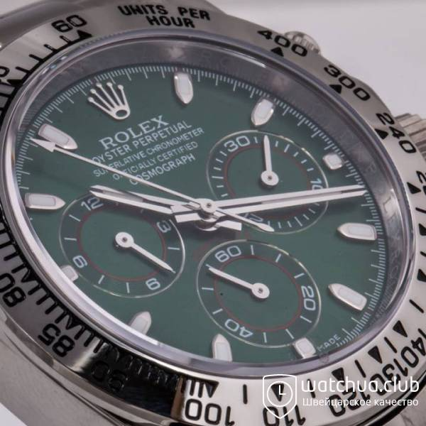 Часы Cosmograph Daytona 40mm White Gold Green вид 11