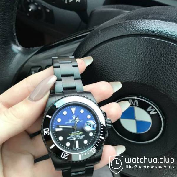 Rolex Blaken Submariner All Black D-Blue вид 1