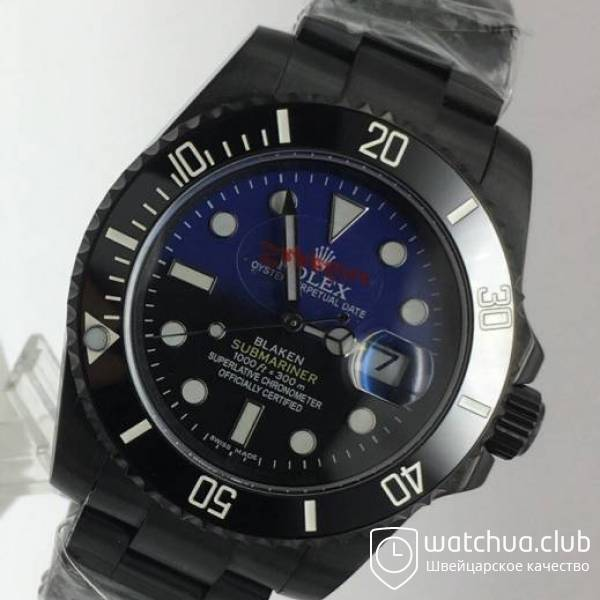 Rolex Blaken Submariner All Black D-Blue вид 2