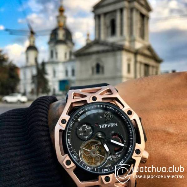 Hublot Techframe Ferrari Golden Case Black Rubber  Techframe Ferrari Golden Case Black Rubber вид 1