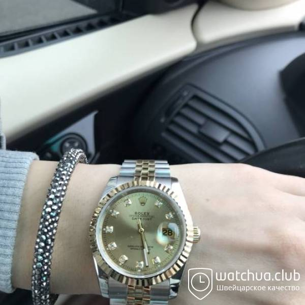 Rolex DateJust Two-tone bracelet Gold Diamond Dial Golden Bezel вид 1
