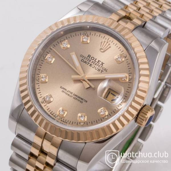 Rolex DateJust Two-tone bracelet Gold Diamond Dial Golden Bezel вид 7