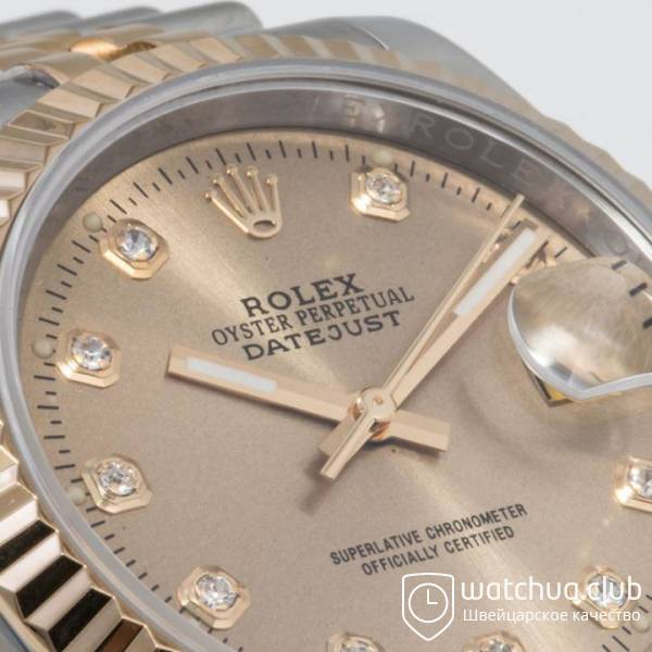 Rolex DateJust Two-tone bracelet Gold Diamond Dial Golden Bezel вид 8